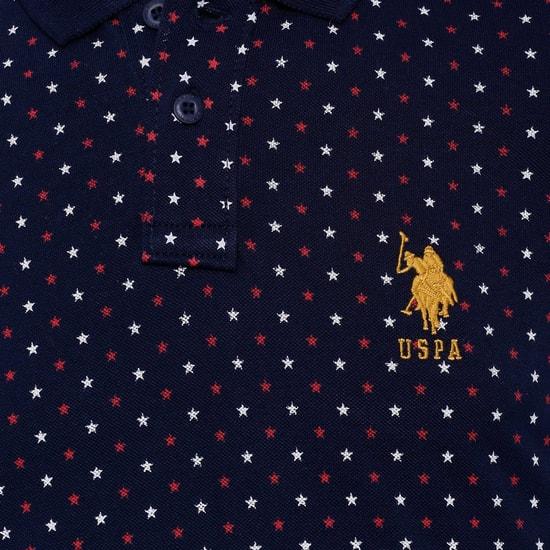 U.S. POLO ASSN KIDS Star Print Polo T-Shirt