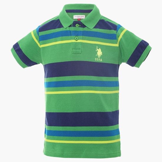 U.S. POLO ASSN. Striped Polo Neck T-Shirt