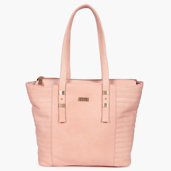 CODE Quilted Paneled Tote Bag