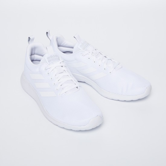ADIDAS Solid Lite Racer Textured Lace-Up Shoes