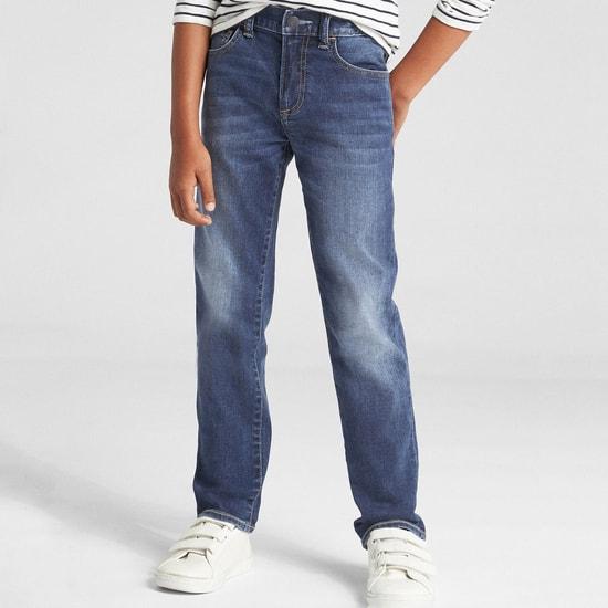 GAP Boys Stonewashed Slim Fit Jeans