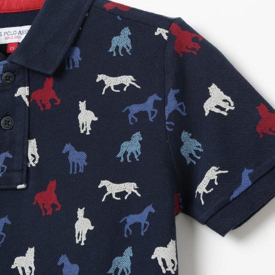 U.S. POLO ASSN. KIDS Printed Polo T-shirt