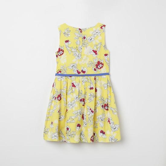 U.S. POLO ASSN. Floral Print Pleated A-line Dress