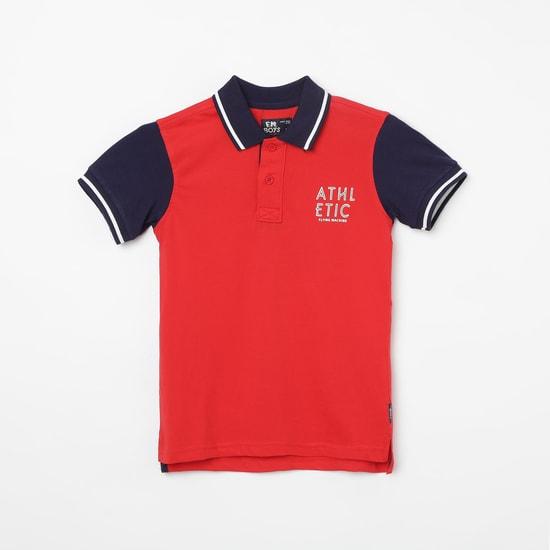 FLYING MACHINE Colourblocked Polo T-shirt