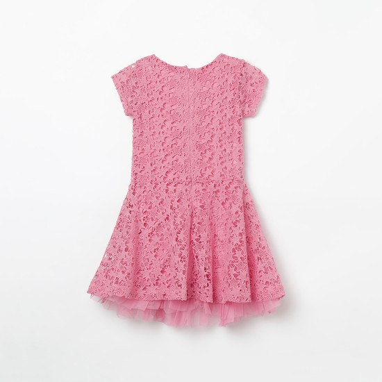 UNITED COLORS OF BENETTON Lace Fit & Flare Dress
