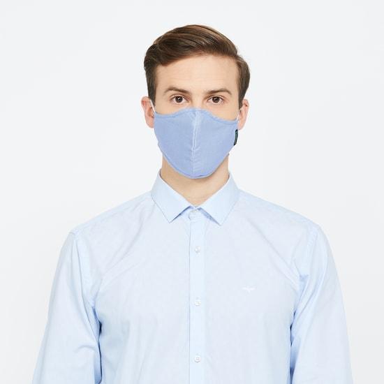 VAN HEUSEN MenTextured Reusable Face Masks - Pack of 4 - Assorted Print & Colour