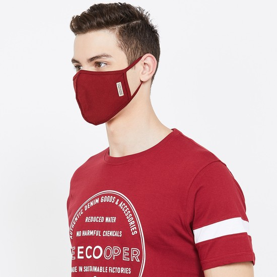 FLYING MACHINE Men Textured 3-Layered Reusable Face Masks - Pack of 3