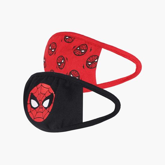KIDSVILLE Boys Spiderman Print Face Mask - Pack of 2