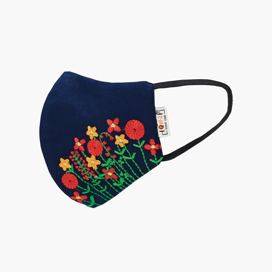 QUT-2 Women Embroidered Anti-Viral Designer Protective Mask