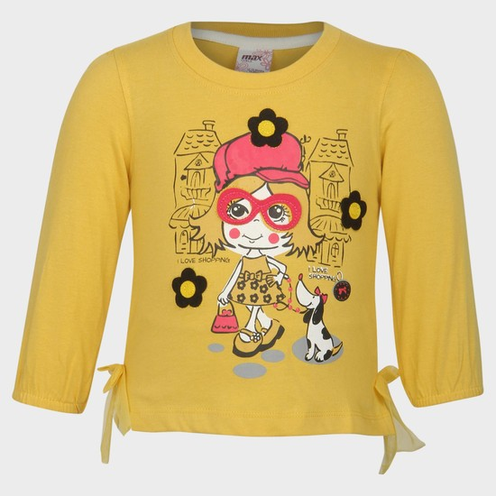 MAX Doodle Girl Printed T-Shirt