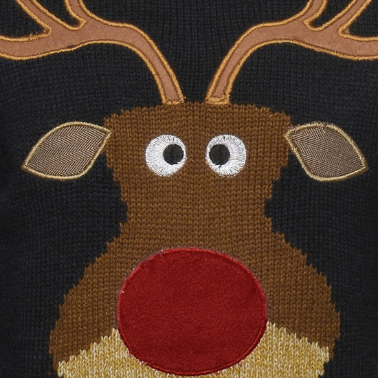 MAX Christmas Reindeer Knitted Full Sleeves Sweater