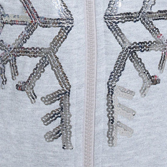 MAX Girls Snowflake Hooded Sweatshirt