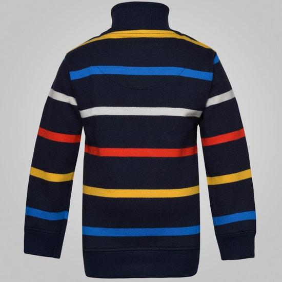MAX Striped Zip-Up Sweatshirt