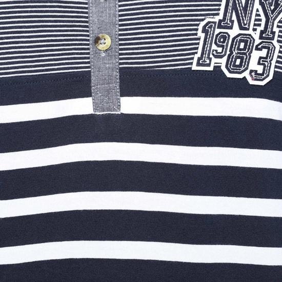 MAX Striped Henley T-Shirt
