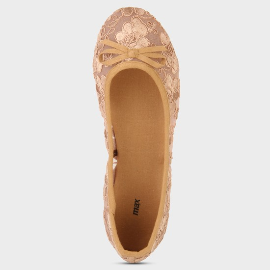 MAX Lace Sheer Ballerina Shoes