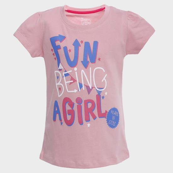 MAX Fun Being A Girl Crew Neck T-Shirt