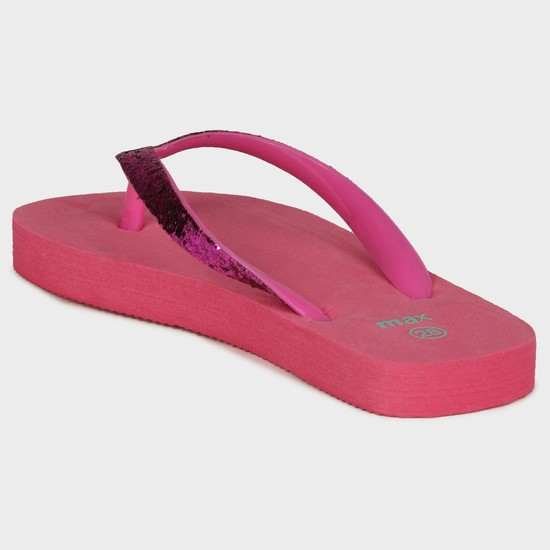 MAX Shimmer Strap Slippers
