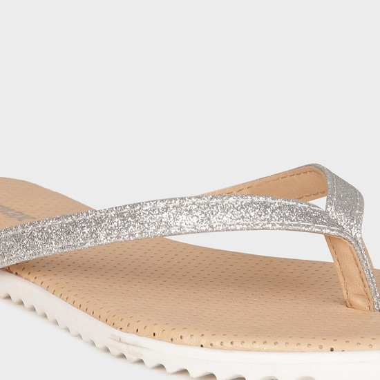MAX Glittery Strap Flats