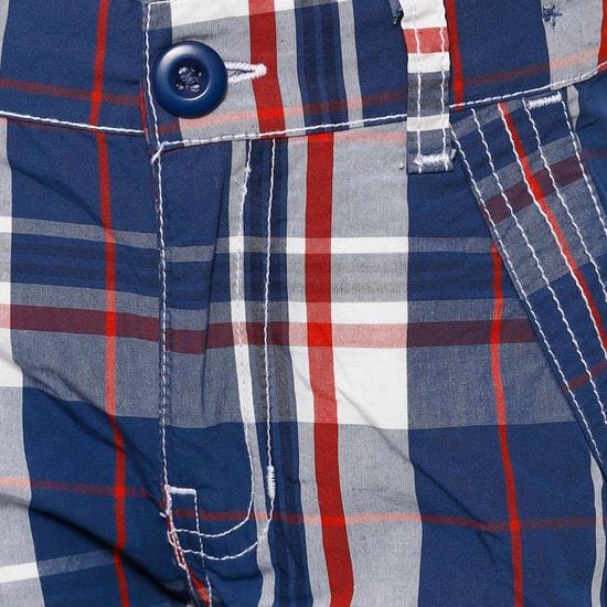 MAX Plaid Check Cargo Shorts