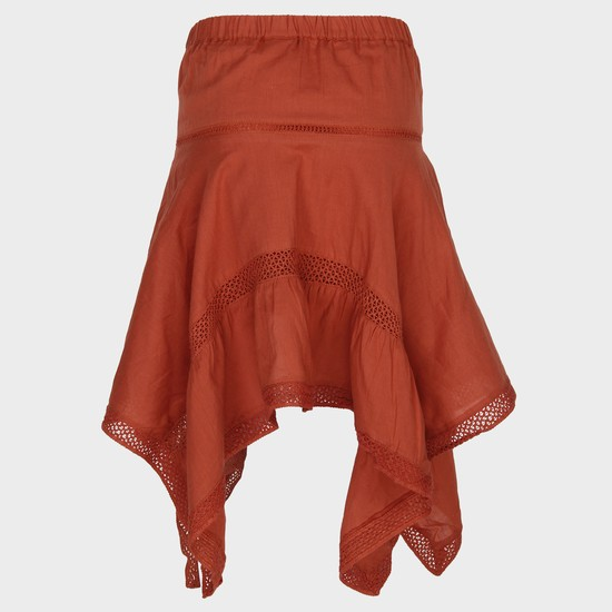 MAX Solid Asymmetric Hem Skirt