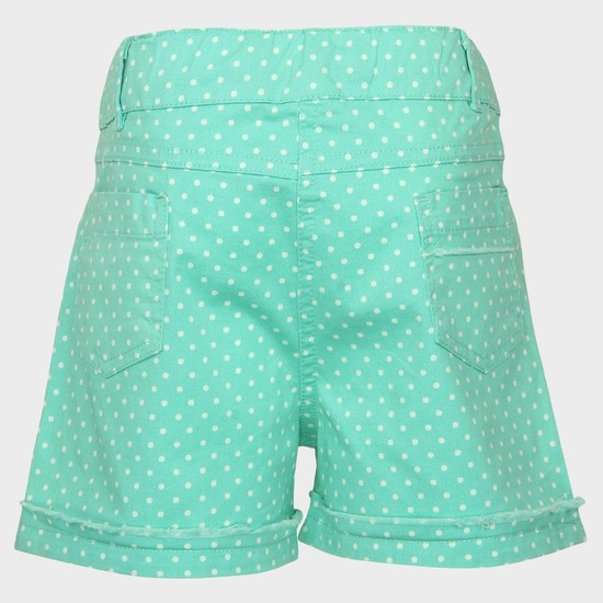MAX Polka Dot Print Cotton Shorts