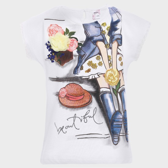 MAX Rosy Girl Printed T-Shirt