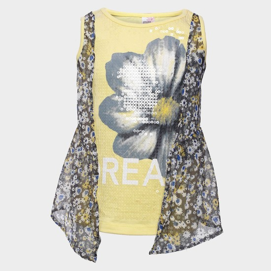 MAX Layered Sequined Top