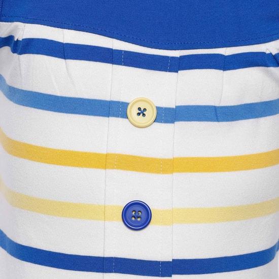 MAX Striped Button Detail Top