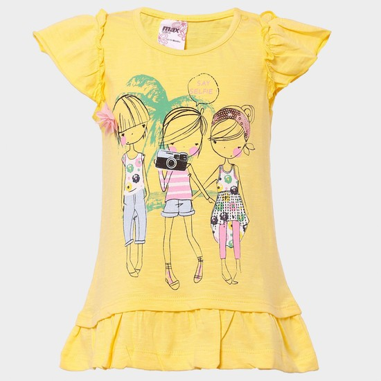 MAX Cute Girls Crew Neck Top