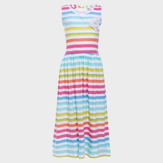 MAX Rainbow Stripes Maxi Dress