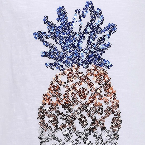 MAX Sequined Pineapple T-Shirt
