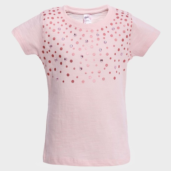 MAX Sequinned Blush Top