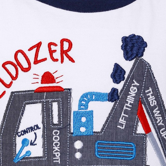 MAX Bulldozer Applique T-Shirt