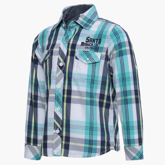 MAX Plaid Checks Full Sleeves Shirt