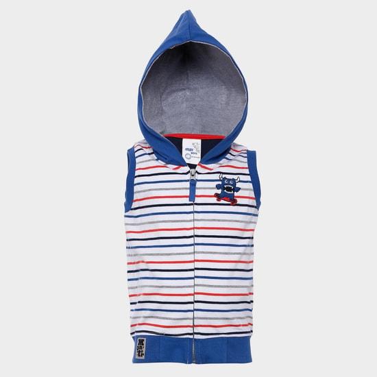 MAX Striped Zip-Up T-Shirt