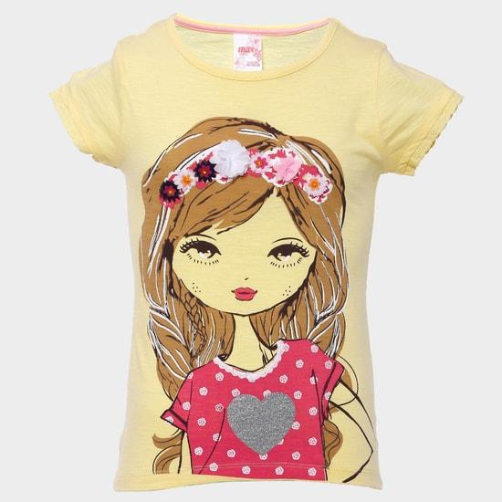 MAX Tiara Girl Print T-Shirt