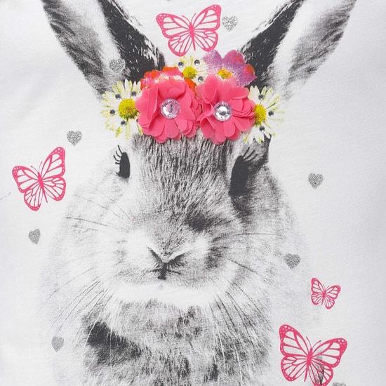 MAX Bunny Print Top