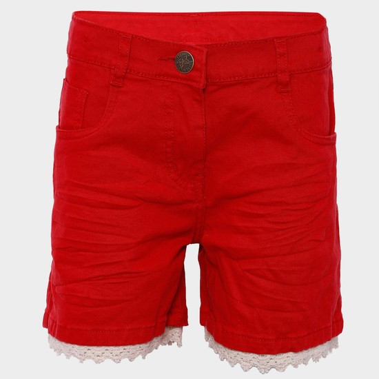 MAX Solid Lace Frill Shorts