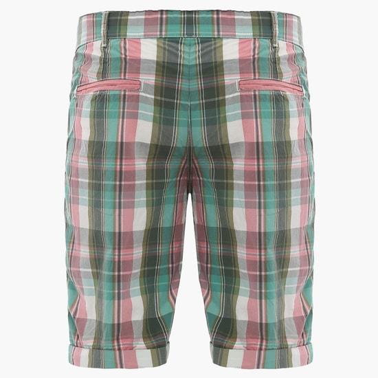 MAX Checks Printed Shorts