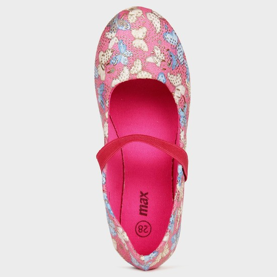 MAX Butterfly Print Studded Ballerinas