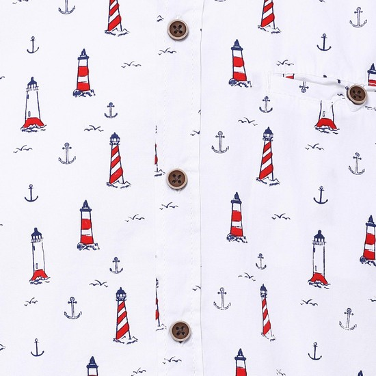 MAX Nautical Print Half Sleeves Shirt