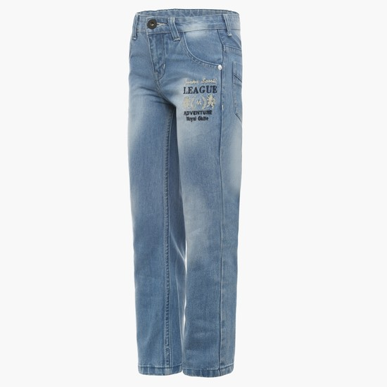 MAX Straight Cut Applique Jeans