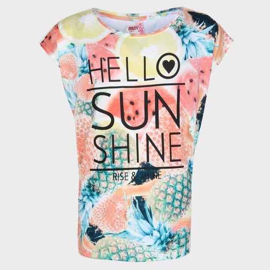 MAX Hello Sunshine Round Neck Top