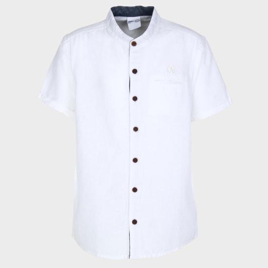 MAX Band Collar Half Sleeves Shirt