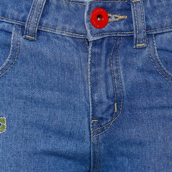 MAX Applique Embroidered Jeans