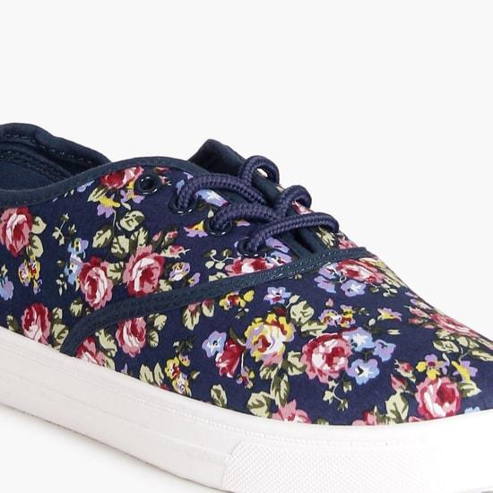 MAX Floral Print Canvas Shoes