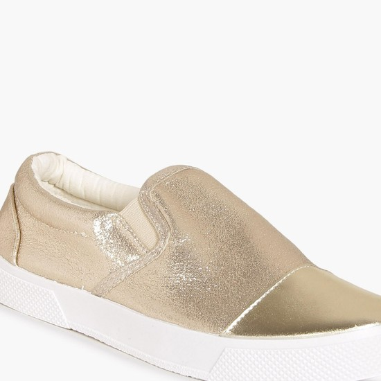 MAX Metallic Toe Slip Ons