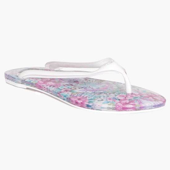 MAX Floral Insole Plastic Slippers