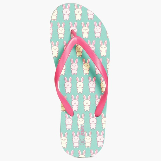 MAX Bunny Print Slippers