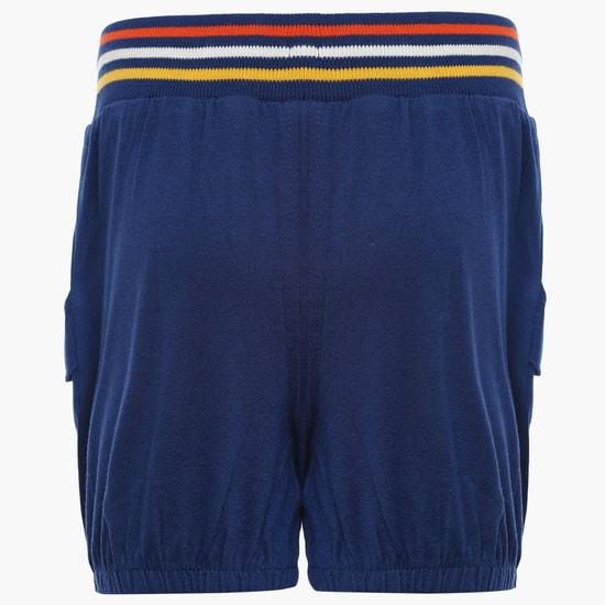 MAX Striped Elasticated Waist Band Shorts